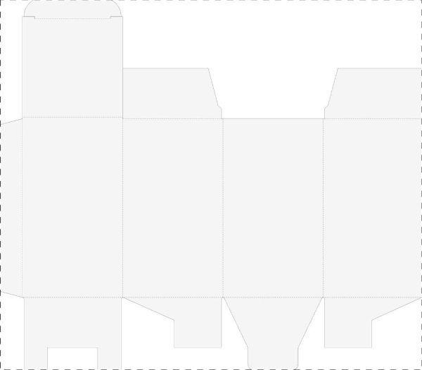 CreaBox Shaker A - Krabička z kartonu - rozložená