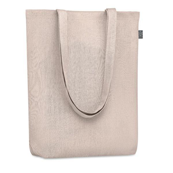 Eco taška nákupní, z konopí, s vlastním potiskem, béžová