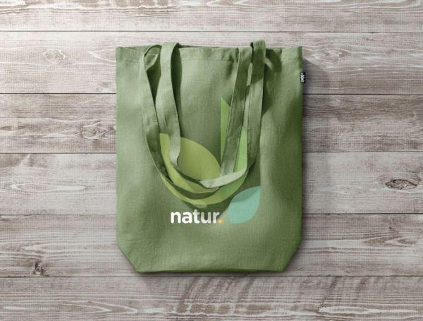 NAIMA TOTE eco taška nákupní s dlouhými uchy a s potiskem
