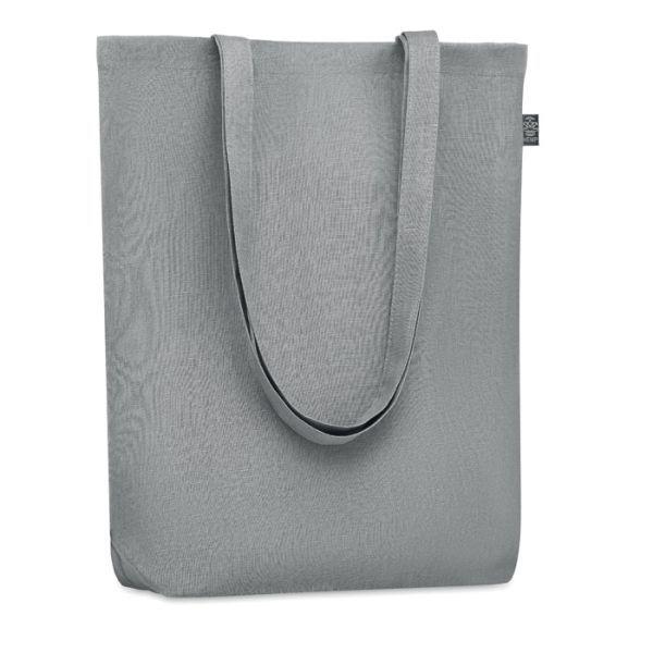 Eco taška nákupní, z konopí, s vlastním potiskem, šedá