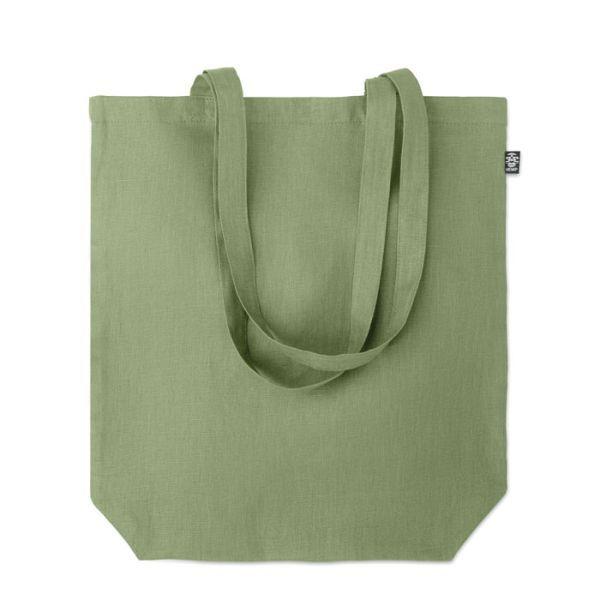 Eco taška nákupní, z konopí, s vlastním potiskem, zelená
