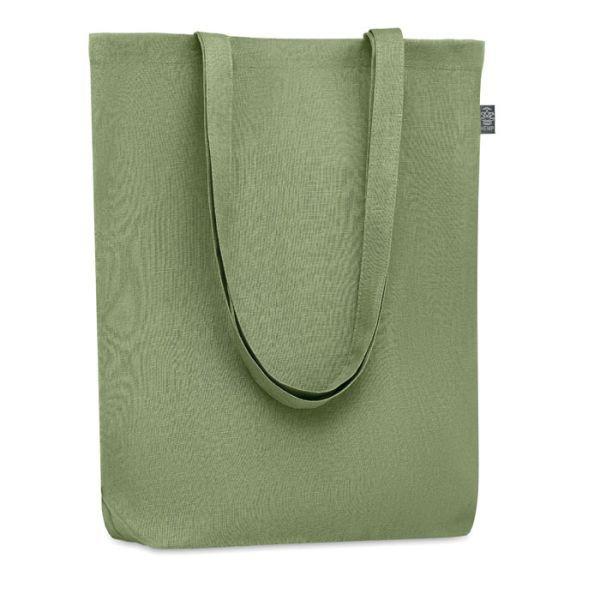 Eco taška nákupní, z konopí, s vlastním potiskem, dlouhá ucha, zelená