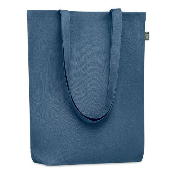 NAIMA TOTE ekologická taška nákupní s dlouhými uchy, modrá