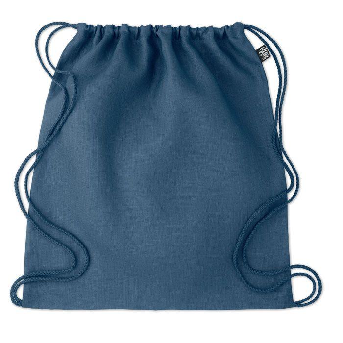 NAIMA BAG eco batoh z konopí stahovací modrý