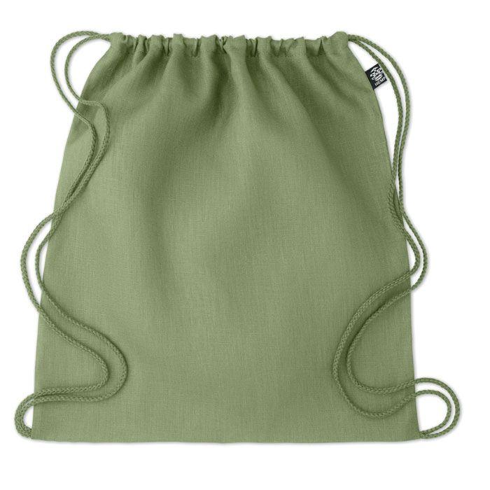 NAIMA BAG eco batoh z konopí stahovací zelený