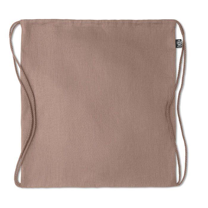 NAIMA BAG eco batoh z konopí stahovací hnědý