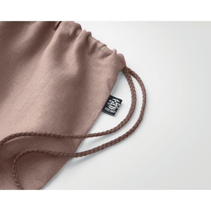NAIMA BAG ekologický batoh z konopí stahovací hnědý