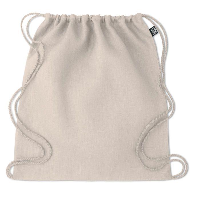 NAIMA BAG ekologický batoh z konopí stahovací béžový
