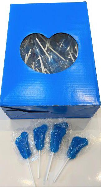 Modrá ovocná bezlepková lízátka pro děti, v krabici 100ks