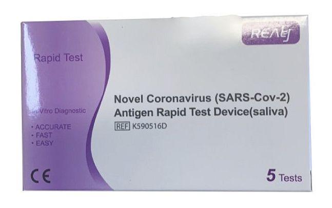 Rychlé antigenní testy ze slin na Covid-19, v balení 5 ks
