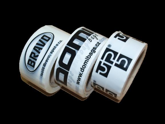 Lepicí pásky s potiskem, BOPP pásky s logem nebo vlastním textem