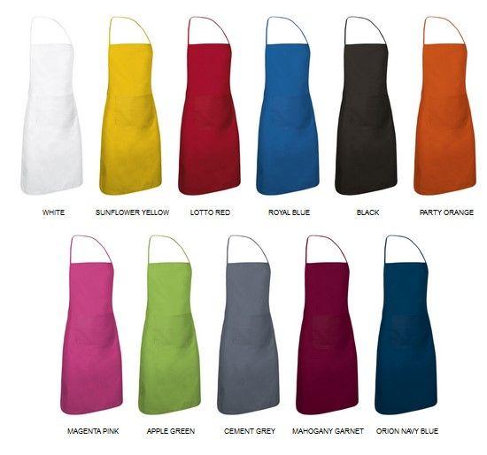 CHEF kuchařská zástěra, barevné varianty
