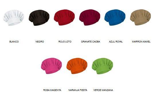 Coulant kuchařské čepice pro potisk, různé barvy