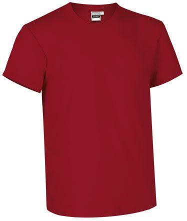 Barevné bavlněné tričko Comic Fitr pro potisk, červené