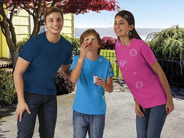Barevná bavlněná trička s potiskem