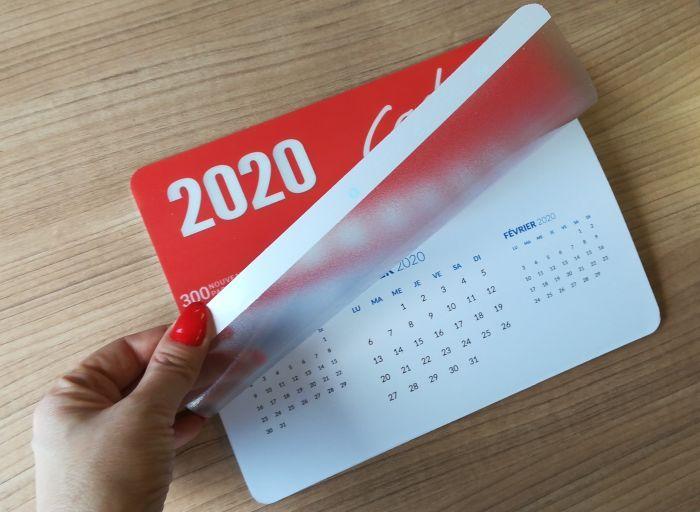 Podložka pod myš s vlastním potiskem, s kalendářem