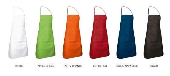 Pepper víceúčelové pracovní zástěry s kapsou, více barev