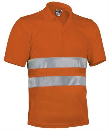 BUILD pracovní polokošile s reflexními pásky, oranžová