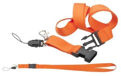 Duble lanyard oranžový pro reklamní potisk