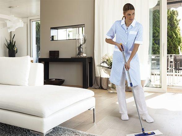 ALANIS dámská pracovní šatová zástěra modro-bílá