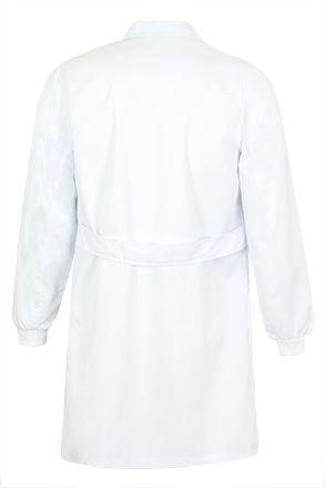 CLUSTER pracovní plášť bílý na suchý zip S-2XL, bederní pásek