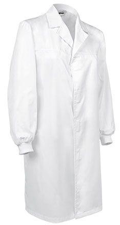 CLUSTER pracovní plášť bílý na suchý zip S-2XL
