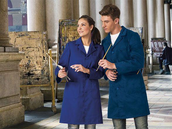LOAD klasický pracovní plášť modrý 2 odstíny, unisex S-2XL