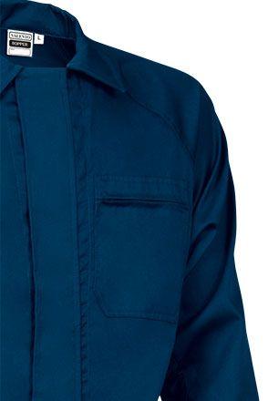 ROPPER montérková kombinéza modrá, detail náprsní kapsy