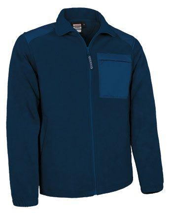 Basset flísová bunda na zip, s náprsní kapsou, modrá