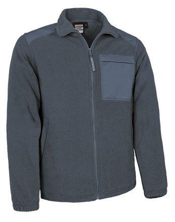 Basset flísová bunda na zip, s náprsní kapsou, šedá
