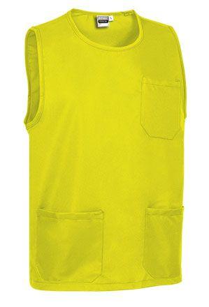 Krátký úklidový kabát, tabard, pracovní zástěra Costa, žlutá