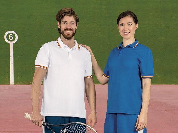 Funkční polokošile - polo trička Maastricht bílé a modré