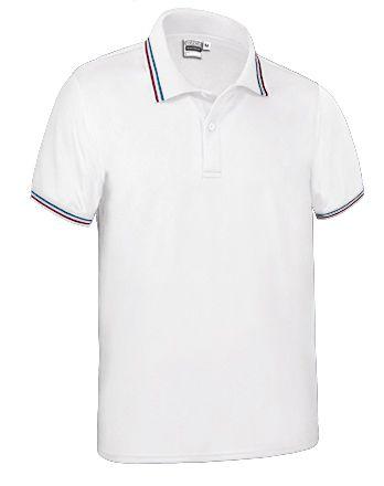 Funkční polokošile - polo tričko Maastricht bílé, vlajka Francie