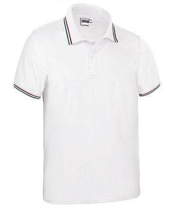 Funkční polokošile - polo tričko Maastricht bílé, vlajka Itálie