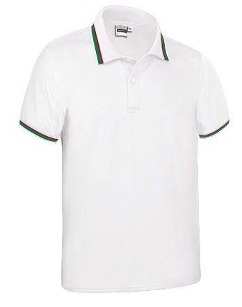 Funkční polokošile - polo tričko Maastricht bílé, vlajka Portugalsko