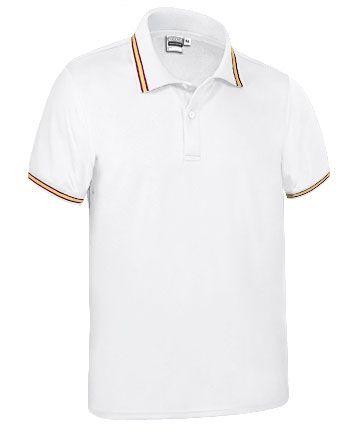 Funkční polokošile - polo tričko Maastricht bílé, vlajka Španělsko