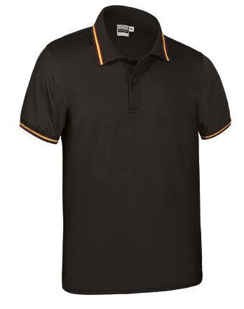 Funkční polokošile - polo tričko Maastricht černé, vlajka Španělsko