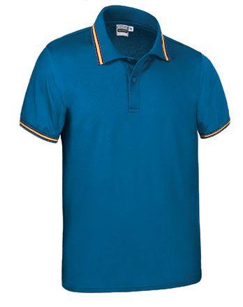 Funkční polokošile - polo tričko Maastricht modré, vlajka Španělsko