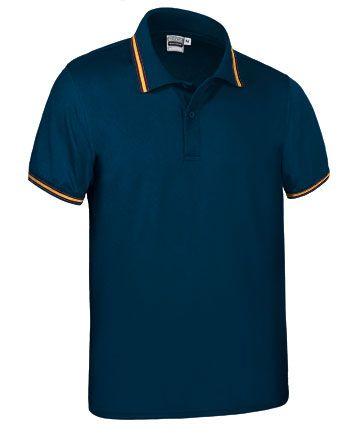 Funkční polokošile - polo tričko Maastricht tm. modré, vlajka Španělsko