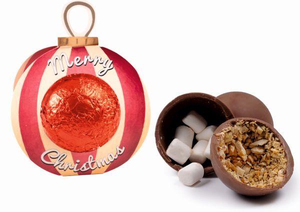 Vánoční čokoládová koule s náplní a vlastním potiskem