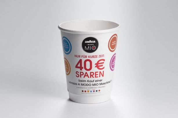 Papírové kelímky na kávu s vlastním potiskem 200/260ml (8 oz)