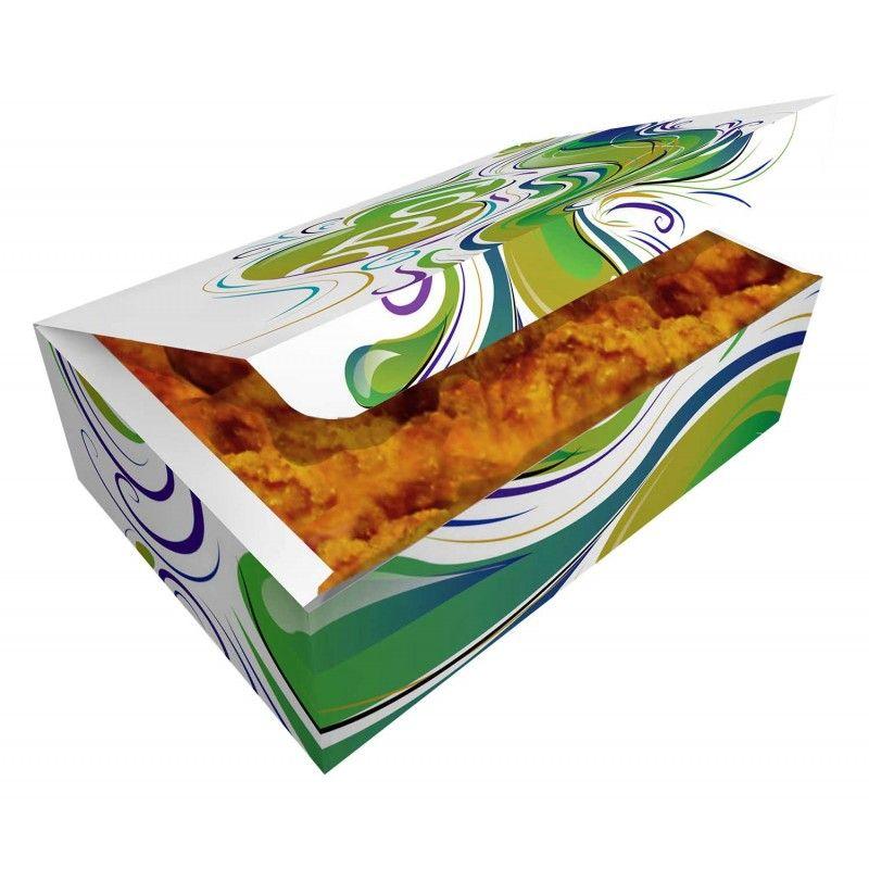 Papírová potravinová krabička 200x125x85mm