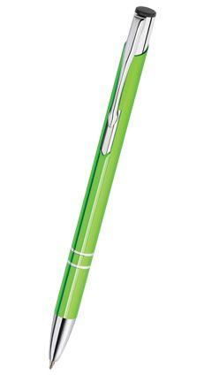 Reklamní propiska kovová COSMO - slim, zelená CS17