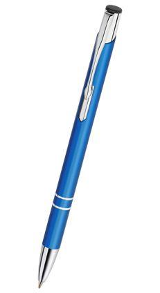 Reklamní propiska kovová COSMO - slim, modrá CS10
