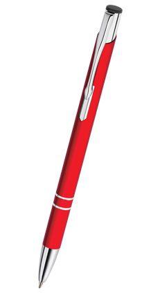 Reklamní propiska kovová COSMO - slim, červená CS06