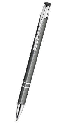 Reklamní propiska kovová COSMO - slim, šedá CS03