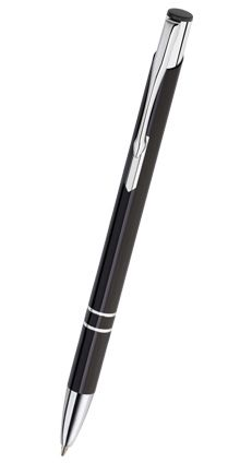 Reklamní propiska kovová COSMO - slim, černá CS01