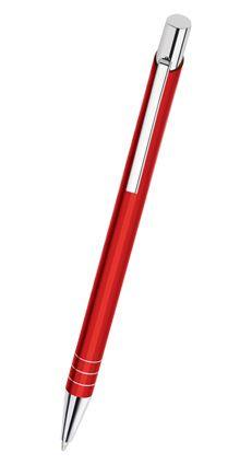 Kovová reklamní propiska FIT, červená F-06