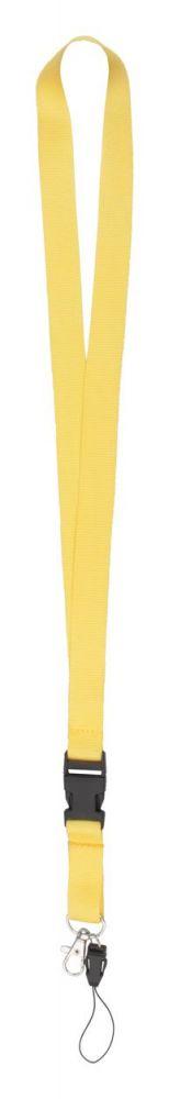 Duble lanyard - žlutý