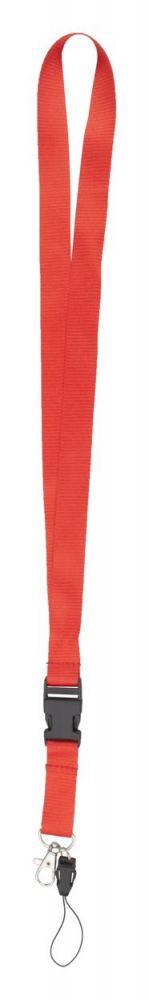 Duble lanyard - červený